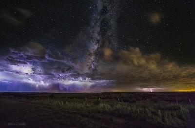 Epic Milky Way Lightning Storm