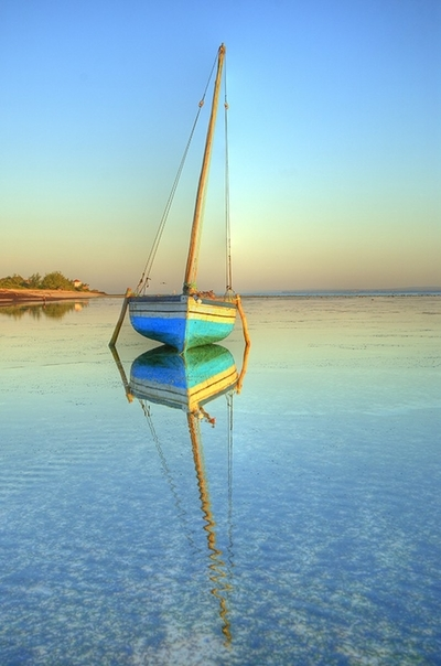 Reflecting Dhow in Mozambique