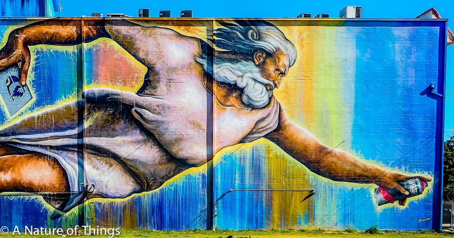 Touched by the spray paint of God