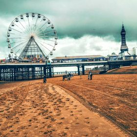 This was a shot taken on a grey, rainy day in Blackpool. I love the very 'Britishness' of the Victorian pier, and the weather helped me...