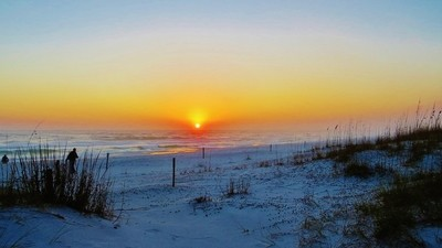 sunset on gulf of mexico