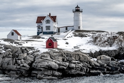 Nubble Lighthouse on Cape Neddick, Maine
