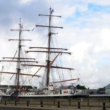 Tall Ships Youth Trust in harbour.