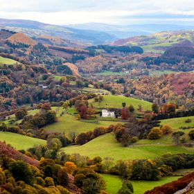 Lllangollen Valley taken from view point on World's End October 2015