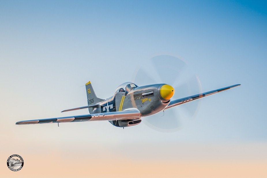 """World War II P-51D Mustang fighter,  """"The Undertaker"""" of Fighter Pilot Adventur..."""