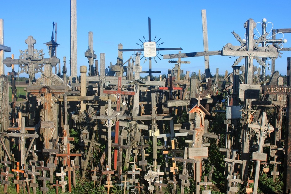 Hill of Crosses, Lithuania. This is not a cemetery, but an international pilgrimage site. It is s...