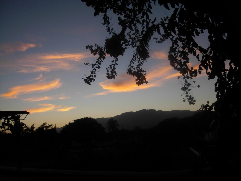 Sun going down in the montains of Capo Verde