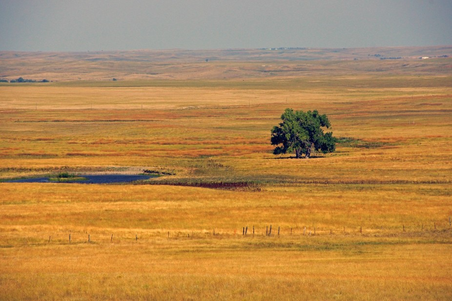 The Grasslands National monument in South Dakota