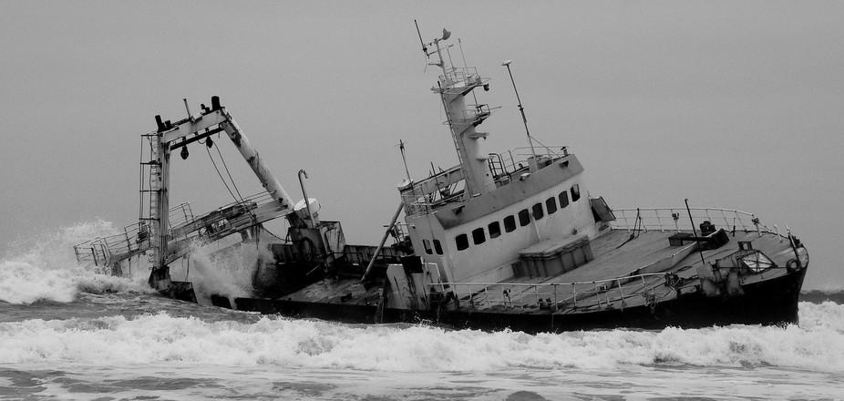A ship wreck on the Namibian Coast