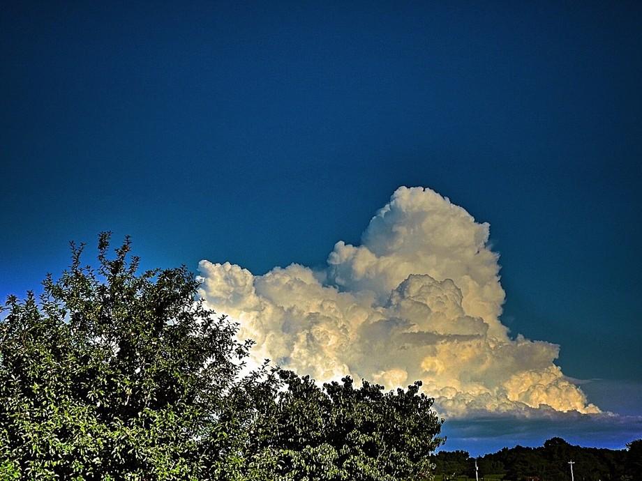 Distant storm headed away