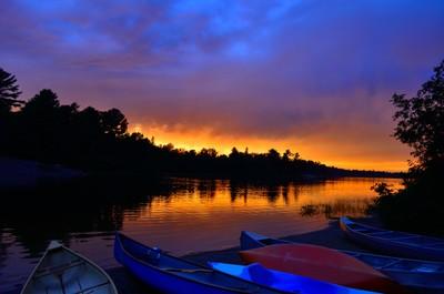 Sunset over Grundy Lake