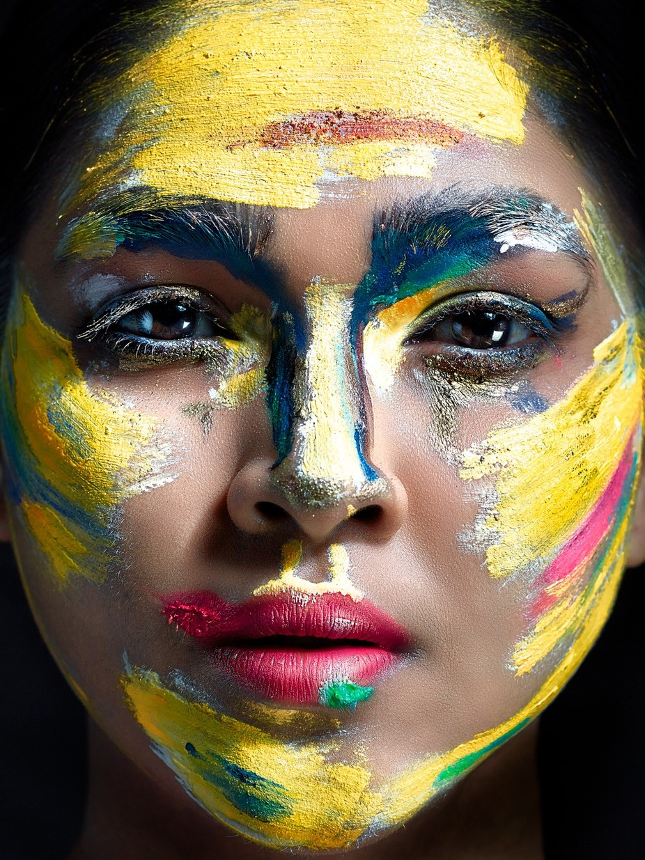 Beauty Face Color by ArindomChowdhury - Paint And Makeup Photo Contest
