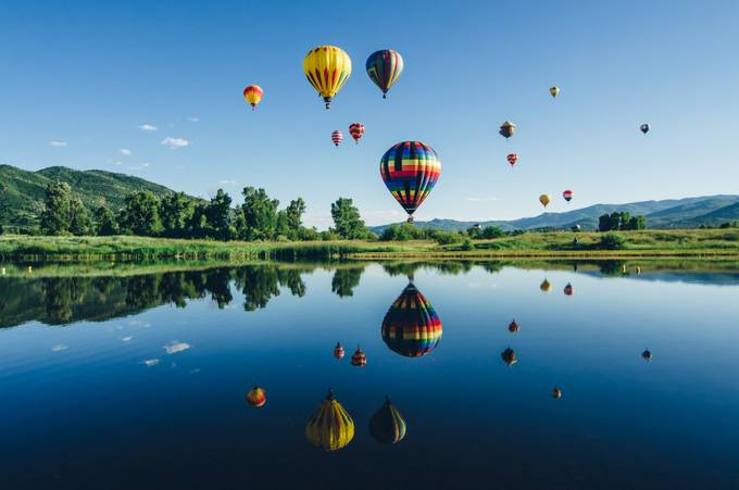 Hot Air Balloon Landscape by stephaniemikuls - Show Balloons Photo Contest