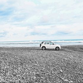 Rented this car and traveled around costa rica.  I saw this totally empty space on a rocky beach. Even though she wasn't a 4x4 she had the h...