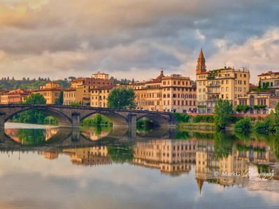 Reflections in the Arno River