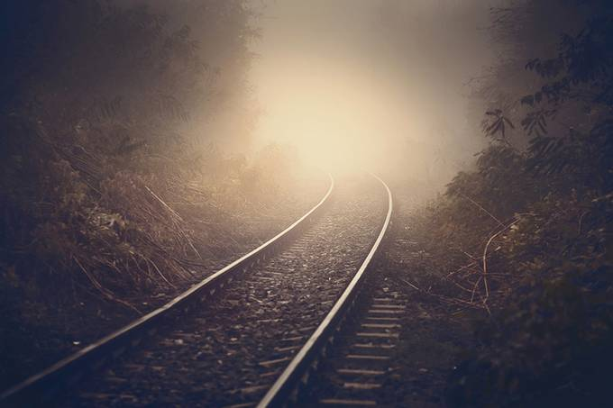 Just around the bend by Dragos_Pop - Empty Railways Photo Contest