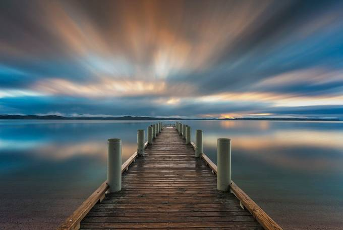 Dramatic Sunrise Long Exposure by iamcordz - The Moving Clouds Photo Contest