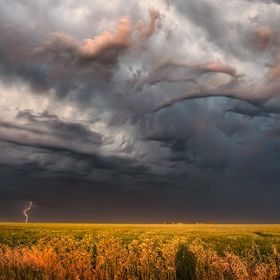 A storm passes to the north of Regina, Saskatchewan with some ominous cloud and lightening. Editor's Choice National Geographic. https://www...
