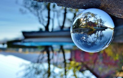 Crystal ball at the boathouse