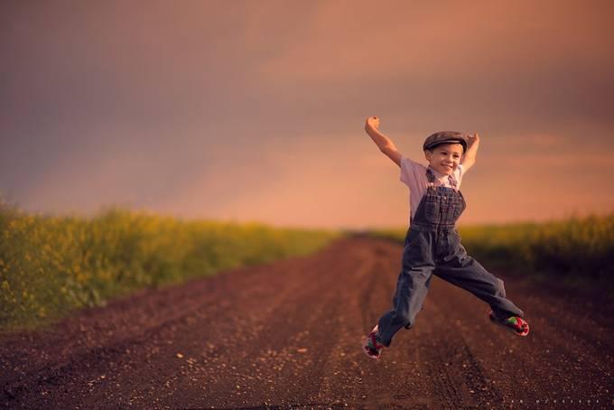 Prairie Joy by IanDMcGregor - Children In Nature Photo Contest