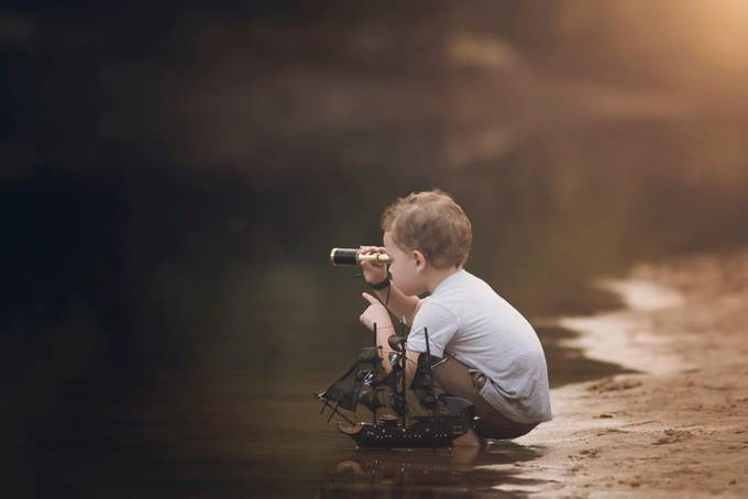 """Work like a Captain, Play like a Pirate"" by StephanieStafford_Photog - Kids With Props Photo Contest"