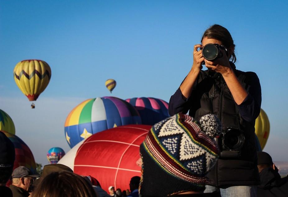 Photographing a photographer at the Albuquerque Balloon Fiesta