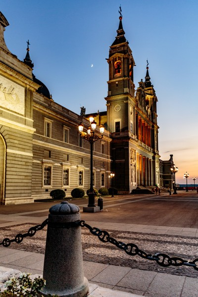 Almudena Cathedral at Sunset
