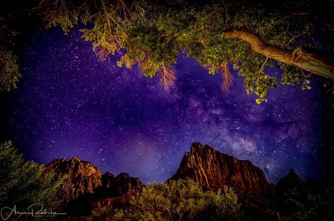 MilkyWayOverWatchman-ZionHDR by arunrohila - Monthly Pro Vol 24 Photo Contest
