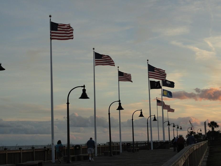 Myrtle Beach boardwalk view
