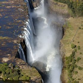 Helicopter tour of Victoria Falls