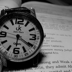 A old fashioned watch..