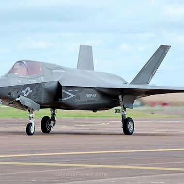 Close up shot of the new F35 joint strike fighter