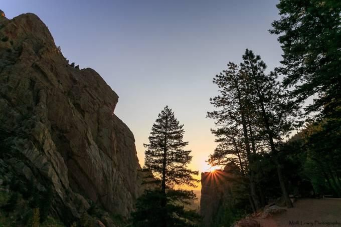 Sunrise flare over Eldorado Canyon by ThePhotoEnthusiast - Flares 101 Photo Contest