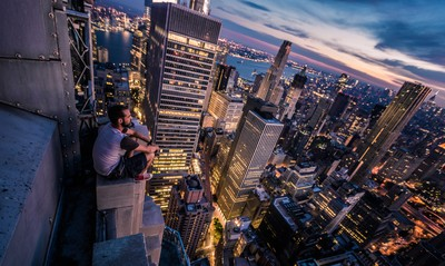 Above the New York City