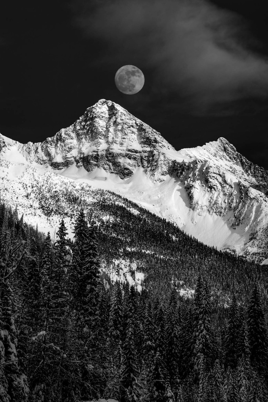 The mountains win again... by DanielJPhotography - Black And White Mountain Peaks Photo Contest