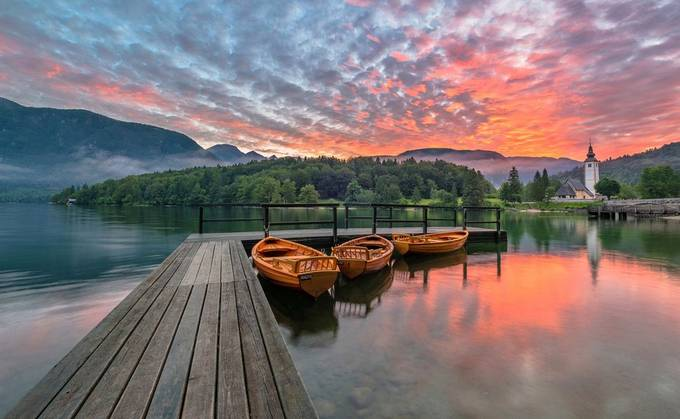 Bohinj Lake by alekrivec - Diagonals And Composition Photo Contest