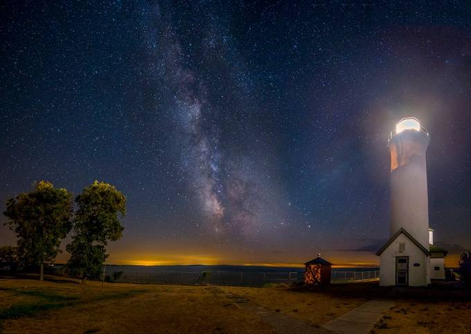 Tibbetts point Lighthouse at Night by markpapke - Night Wonders Photo Contest