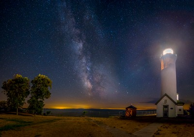 Tibbetts point Lighthouse at Night