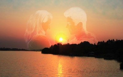 the sun set behind a love story