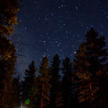 Bryce Canyon at night.