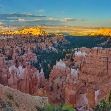 Bryce Canyon at sunset.