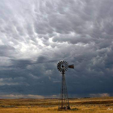 Clouds and Windmill