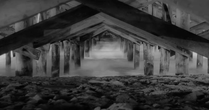 Springmaid Pier by aprillewis - The View Under The Pier Photo Contest