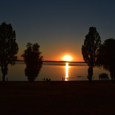 Lac D'Orient. France sunset.