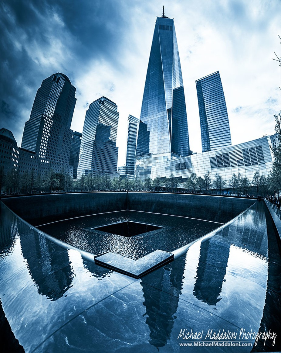 Ground Zero Memorial Pools - Wide Angle by MichaelMaddaloni - Large Photo Contest