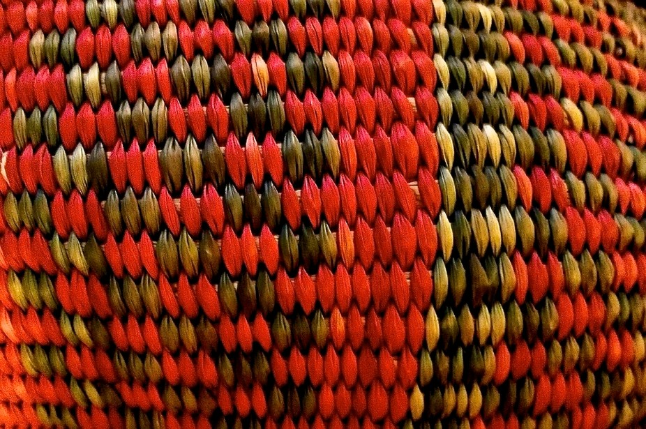 close-up of a Peruvian basket