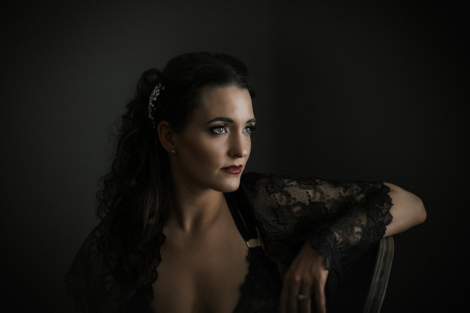 In the midst of a sexy session for her husband to be, I decided to shoot this portrait.