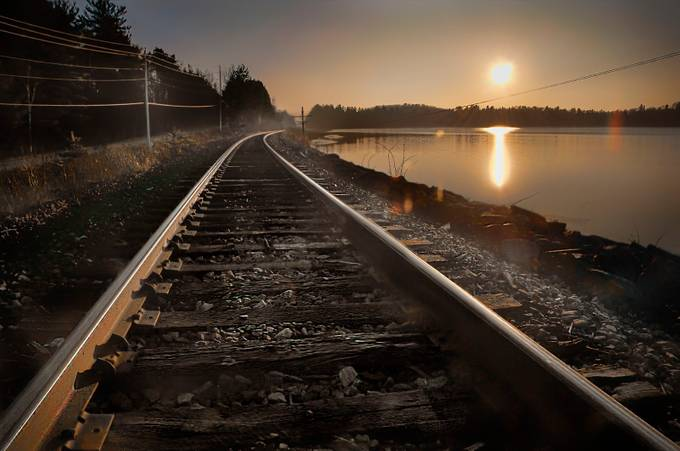Winter Sun by Darylknarr - Empty Railways Photo Contest