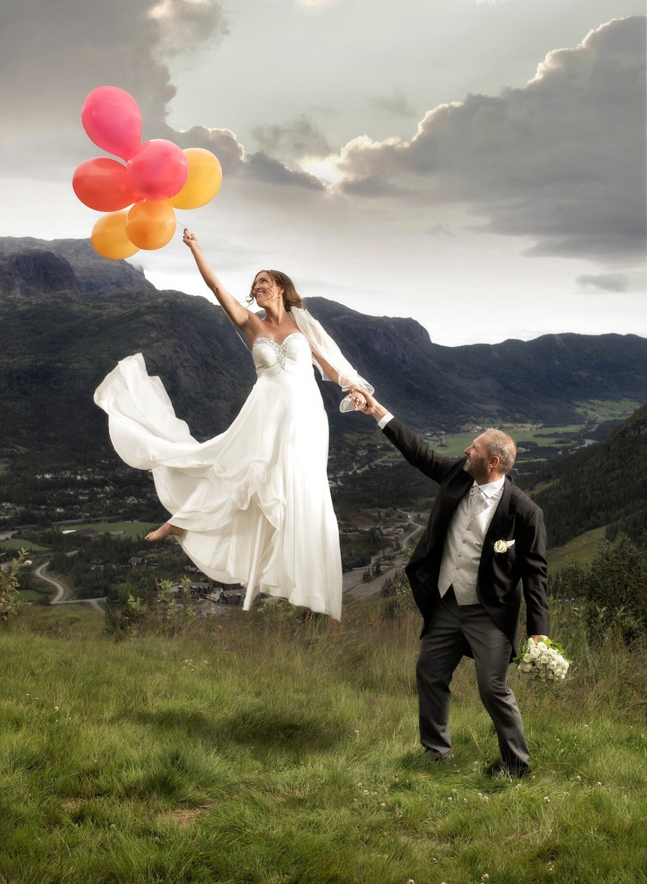 Flying Bride by Elmer-Laahne - Getting Creative Photo Contest