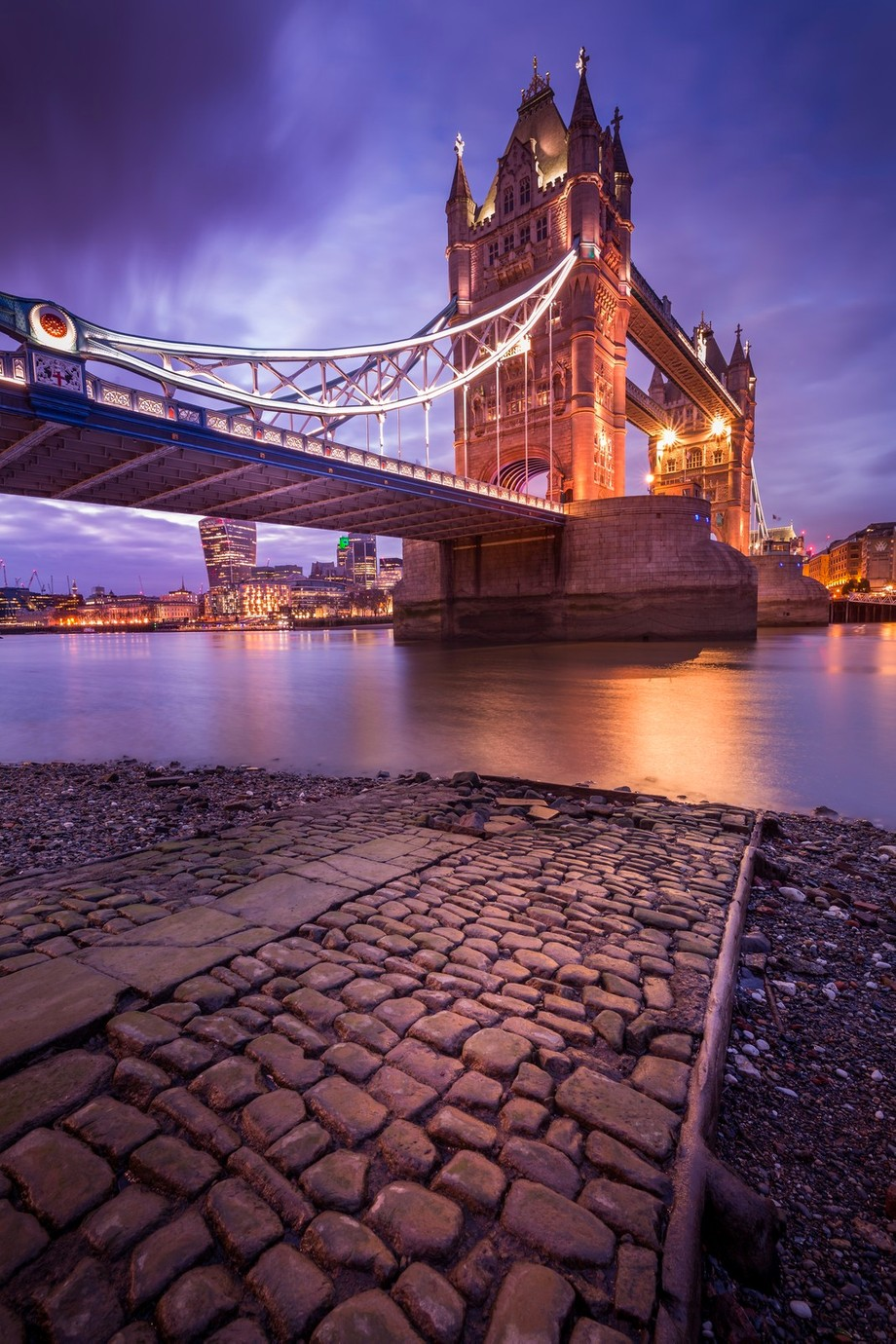 London Tower Bridge Winter Sunset by Merakiphotographer